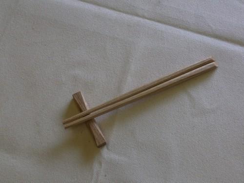 オーク チェリー 箸置き 箸