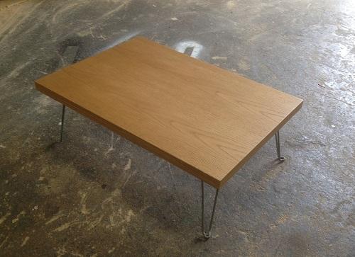 オーク折り畳みローテーブル